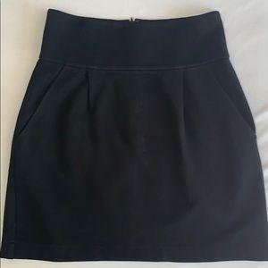 Theory Black Mini Skirt Size